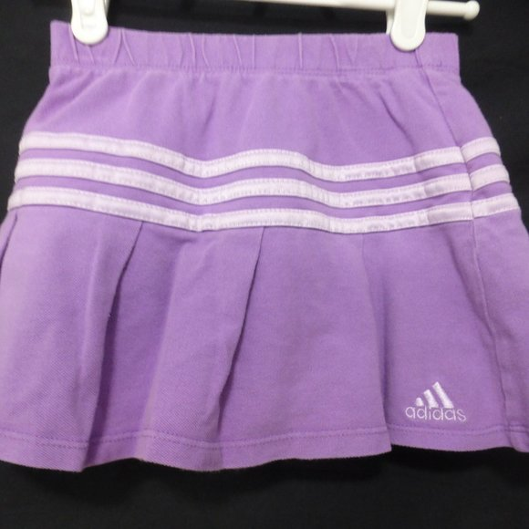 ADIDAS, 6x, striped skirt with shorts underneath